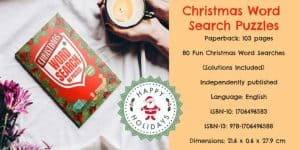 christmas word search puzzle book for adults