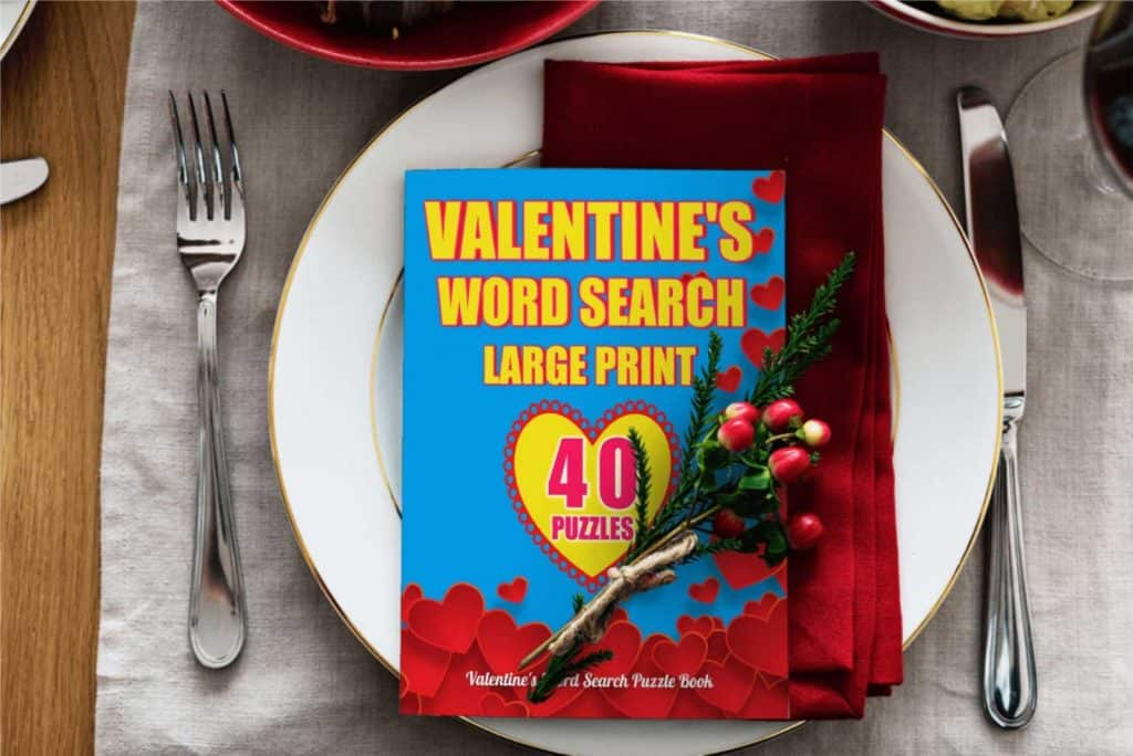 valentine's day word search large print