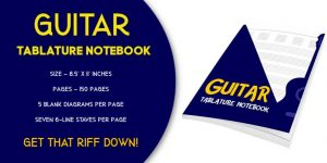 Guitar Tablature Notebook 5 Blank Chord Diagrams with 6 Line Tab Staves