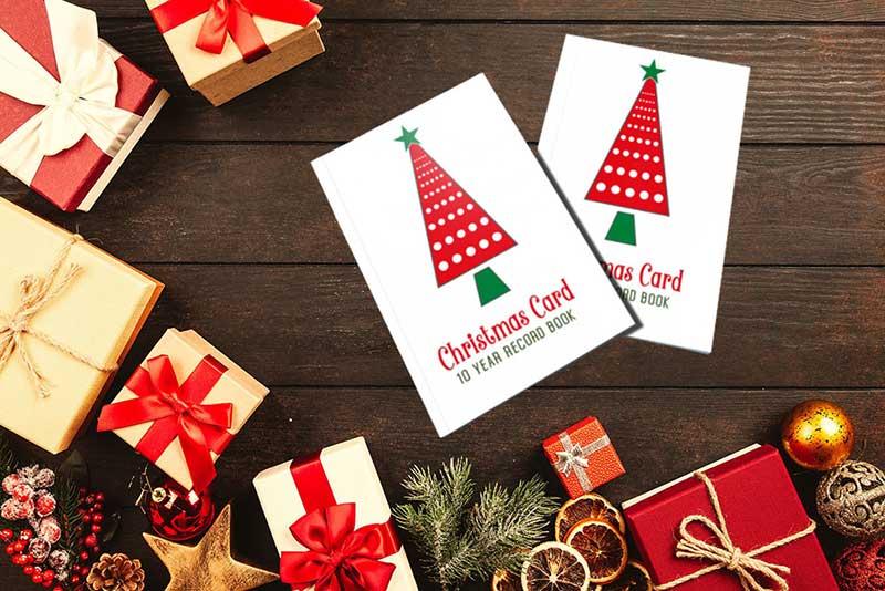 christmas card tracker book