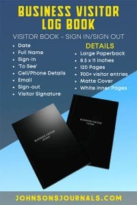 buisness visitor logbook for small business