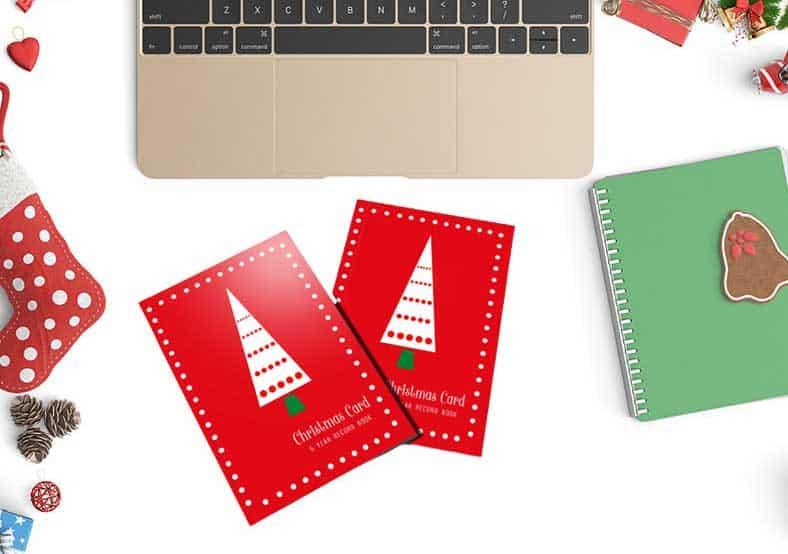 christmas card tracker address book