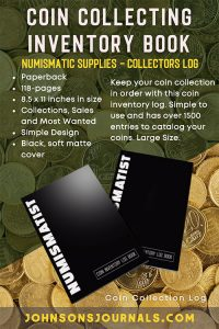 coin collection inventory book for numismatist