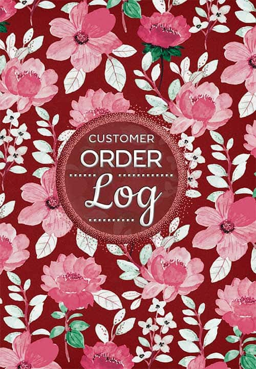 Order Log Book For Small Businesses