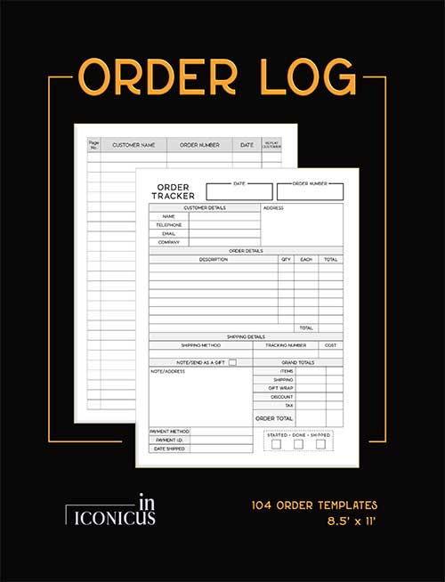 sales order book for small business
