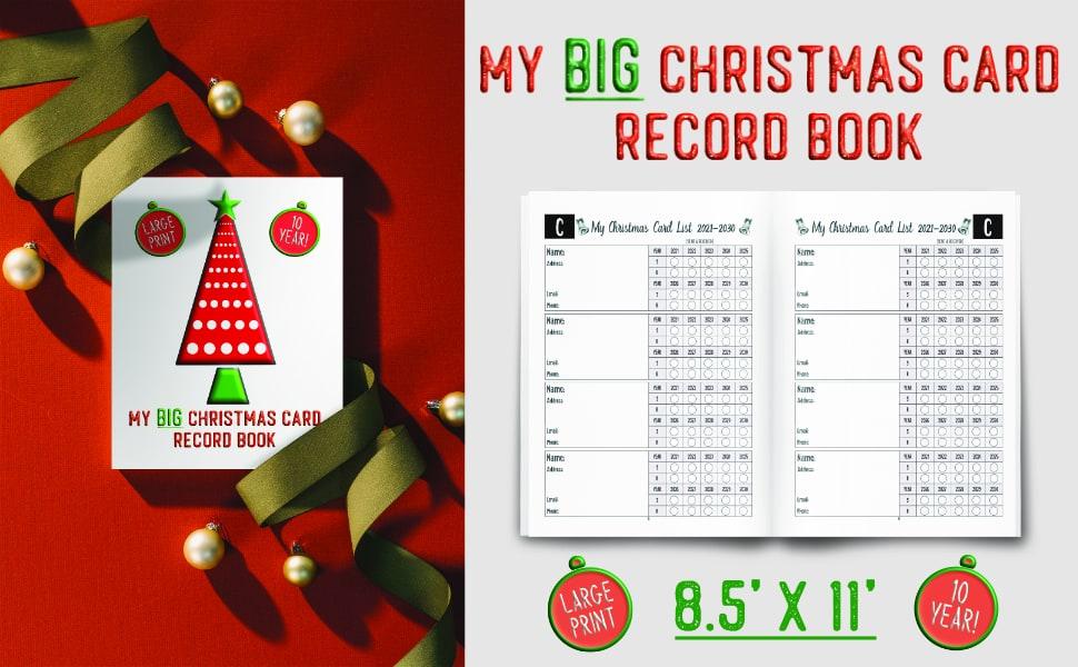 10 year christmas card address books
