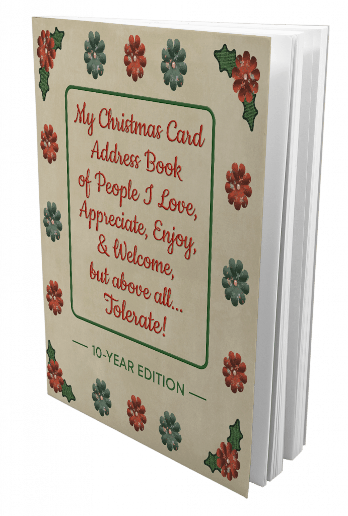 Christmas Card Address Books 10 Year Edition