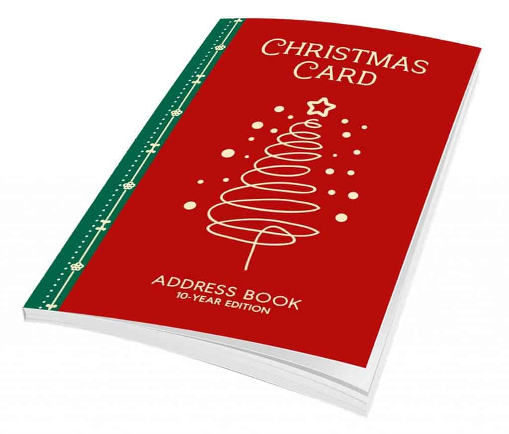 christmas card record books